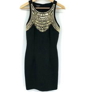Bebe Studded Bodycon Sleeveless Mini Dress
